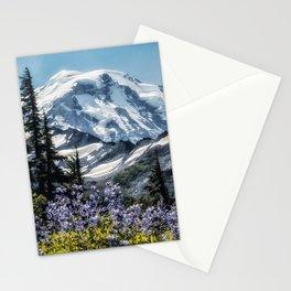 Scenic Art, Mt. Rainier, Mt. Rainier National Park, Spray Park Stationery Cards