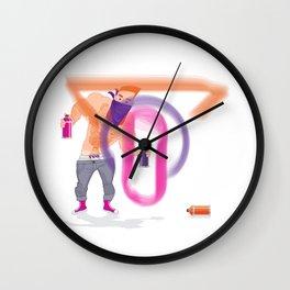 Ivo Graffiti Wall Clock
