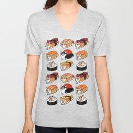 Sushi  Corgi Unisex V-Neck