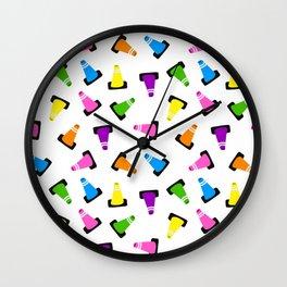 multicolored traffic cones Wall Clock