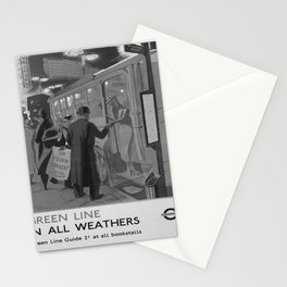 Affiche classic Green Line in All Weathers poster Stationery Cards