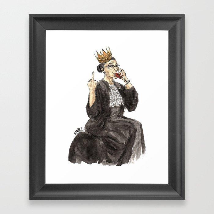 Queen RBG Gerahmter Kunstdruck