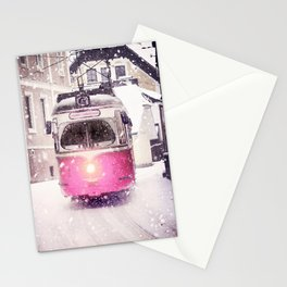 Romantic Snowy Day Stationery Cards
