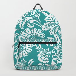 Damask in emerald Backpack