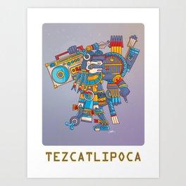 Tezcatlipoca De La Noche Art Print