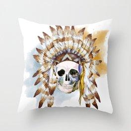 Skull 02 Throw Pillow