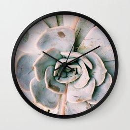Succulent Petals Wall Clock