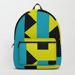 There is a Green Geometric Heart Somewhere, and some other Things Backpack