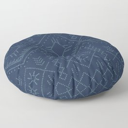 Indigo Dots Floor Pillow