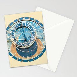 Closeup on Prague Astronomical Clock Stationery Cards