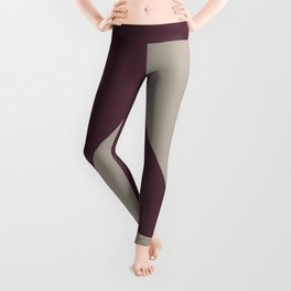 Deep Purple Gray Taupe Minimal Triangle Design 2021 Color of the Year Epoch and Fondue Leggings