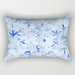 Modern Geometric Winter Snowflake Design Rectangular Pillow