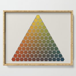 Lichtenberg-Mayer Colour Triangle vintage remake, based on Mayers' original idea and illustration Serving Tray