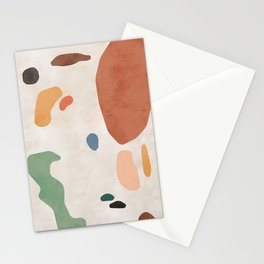 Organic Terracotta Thin Shapes  Stationery Cards