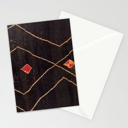 Feiija  Antique South Morocco North African Pile Rug Print Stationery Cards