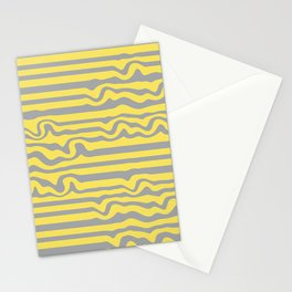 Abstract Pattern Ultimate gray Illuminating Yellow Panton 21 I Stationery Cards