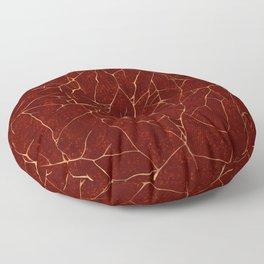 Kintsugi Red Floor Pillow