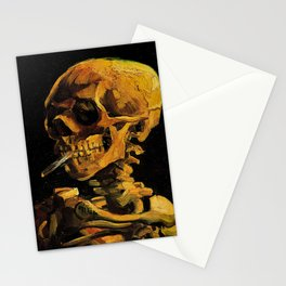 Van Gogh, Skull of a Skeleton with Burning Cigarette  – Van Gogh,Vincent Van Gogh,impressionist,post Stationery Cards
