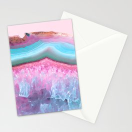 Rose Quartz and Serenity Agate Stationery Cards