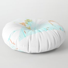 GLITCH NATURE #95: Santa Monica Floor Pillow