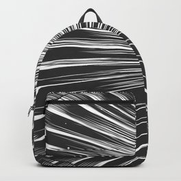 Black and white seashell texture Backpack